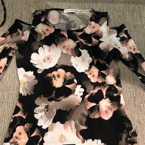 Woman's Calvin Klein Floral Top - Medium